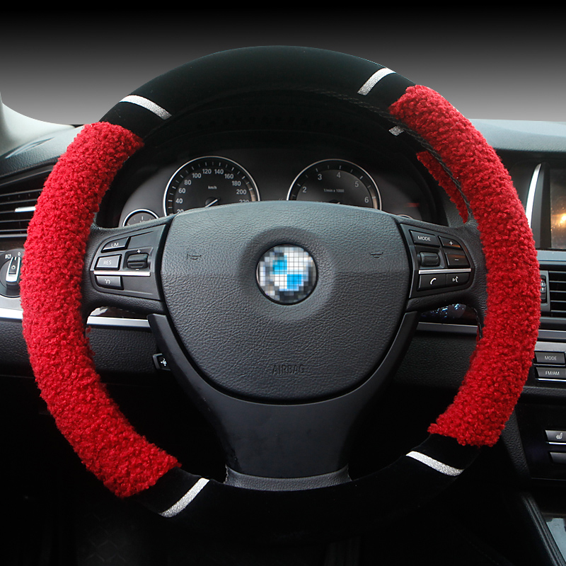 New plush steering wheel vehicle shorthair grips lacrosse bora lavida yuet kai more winter steering wheel cover steering wheel cover