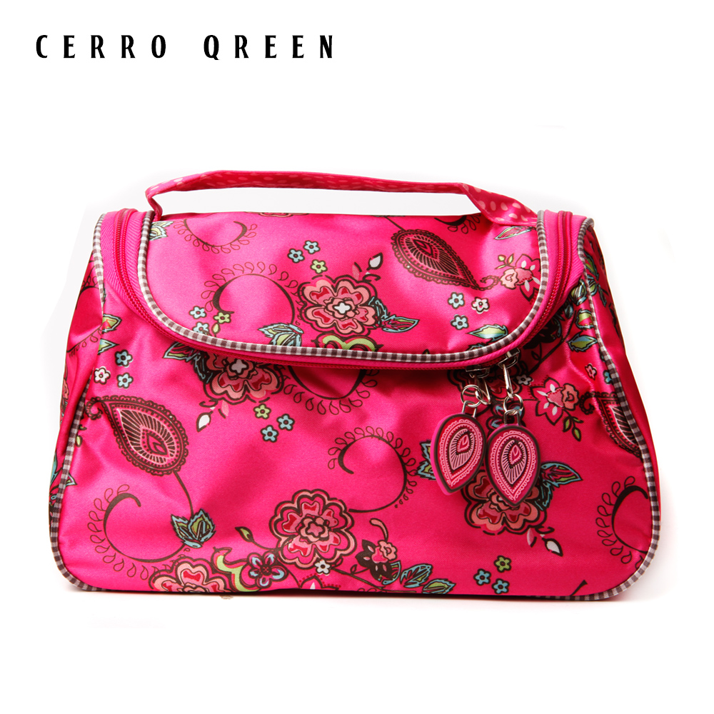 New retro cherry waterproof storage bag cosmetic bag storage girls special clearance