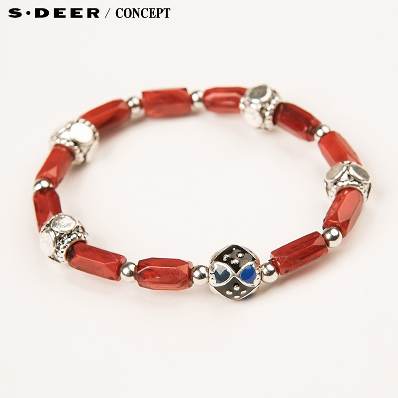 [New] sdeer st. dior counters authentic women's summer warm rich color decorative bracelet S16284332