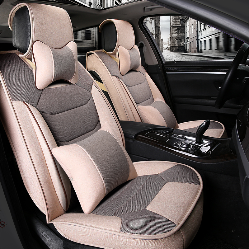 New summer linen car seat cushion four seasons general all inclusive preparation breathable steam car supplies special offer free shipping