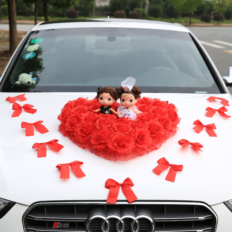 China casual wedding kit china casual wedding kit shopping guide get quotations new wedding supplies creative korean wedding car decoration kit front flower decoration flower wedding car kit junglespirit Image collections