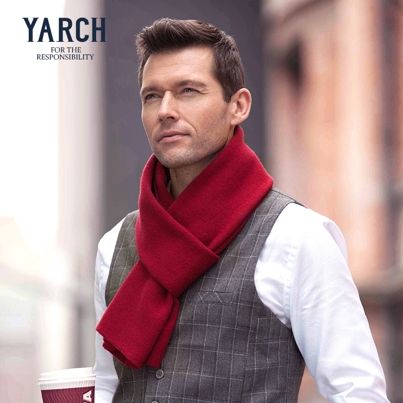 New winter 100% yarch casual upscale men's wool scarf men scarf scarf upscale gift gift