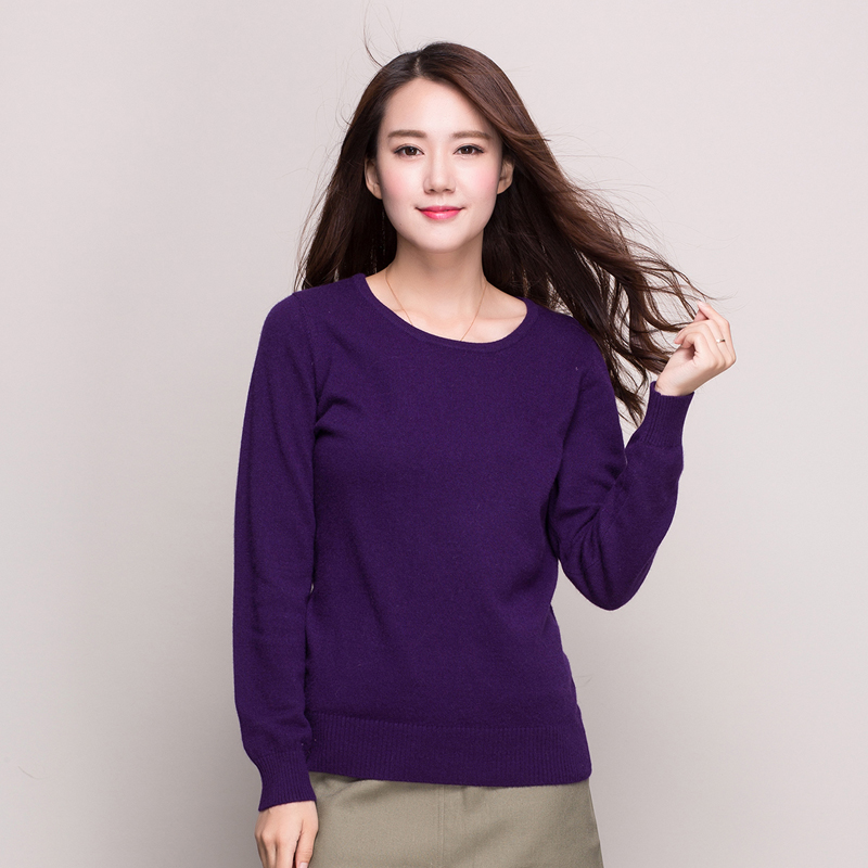 New winter women's cashmere sweaters women slim round neck bottoming shirt hedging knit sweater female specials