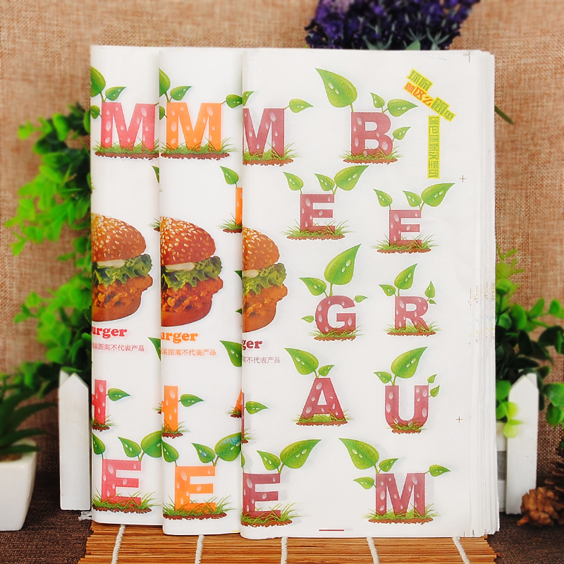 New year mita kfc burger wrapping paper greaseproof paper leafy hamburg hamburg paper [paper] 80 0.32