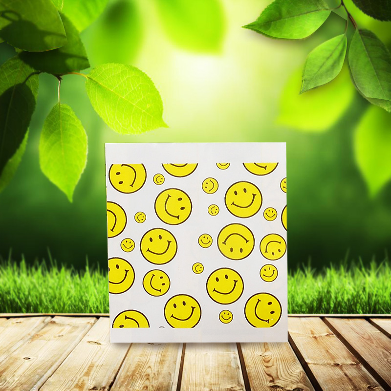 New year mita oil coated paper bag paper bag chicken burger bag smiley bag bags [10*10] 90 0.26