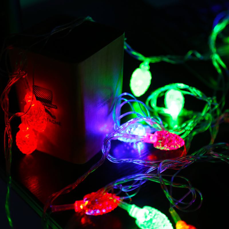 New year's day outdoor waterproof small lantern string lights flashing string lights decorative lights christmas tree lights christmas holiday lantern string lights