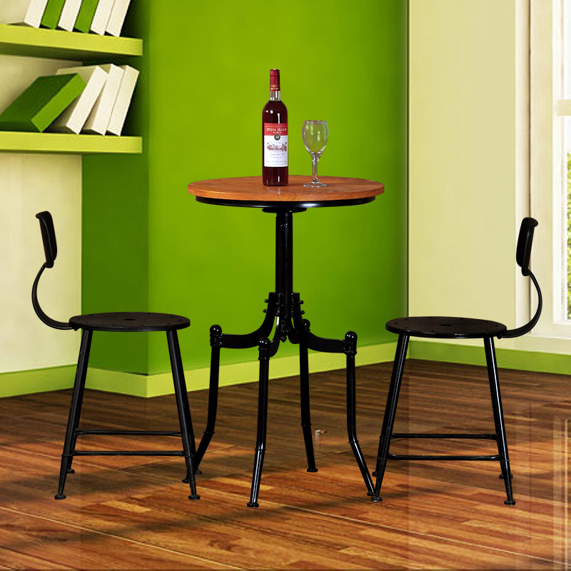 New ying american country wrought iron tables and chairs combination