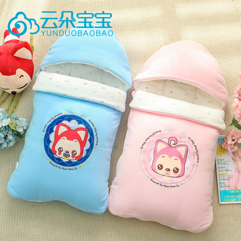 Newborn baby in autumn and winter peridium po po ali cotton newborn baby hold was thick sleeping bag quilt swaddle towel