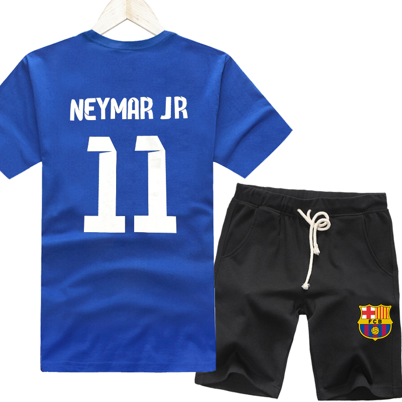 fdc1952285b Get Quotations · Neymar barcelona real madrid football clothes  compassionate thin section summer influx of men s sports short sleeve