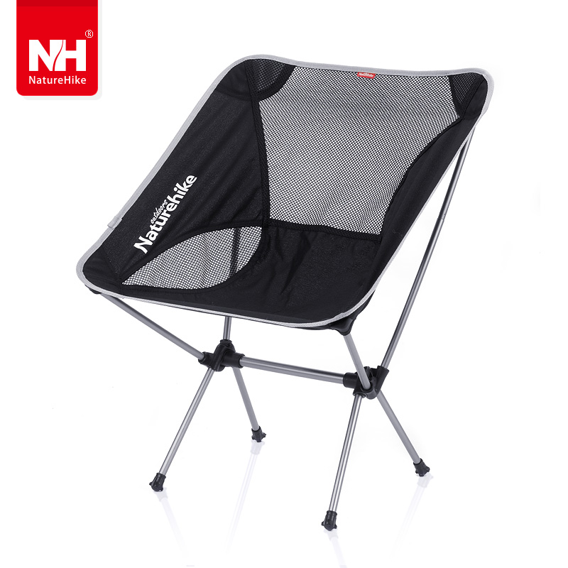 Nh outdoor folding chair portable folding stool beach chair fishing stool sketching chair train camping picnic leisure