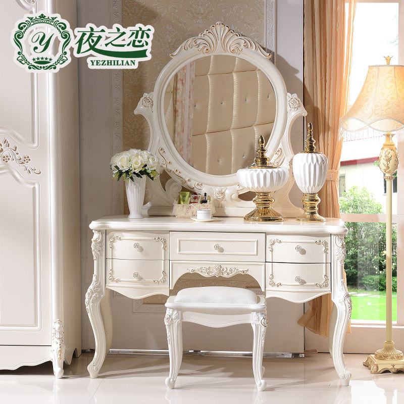 Night of love furniture european princess dresser dressing table dressing table five pumping storage dresser bedroom dresser dressing table 612