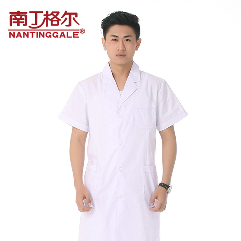 Nightingale jirga thin short sleeve summer clothes for men and women doctors serving a white lab coat blue overalls work clothes shop experimental medication nurse