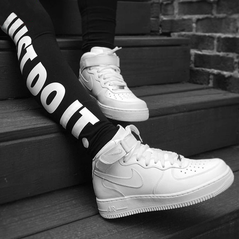 Buy Nike air force 1 mid help womens casual shoes all white