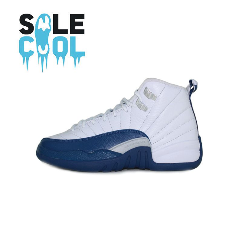 Nike air jordan 12 gs aj12 joe 12 french blue women's basketball shoes 153265-113