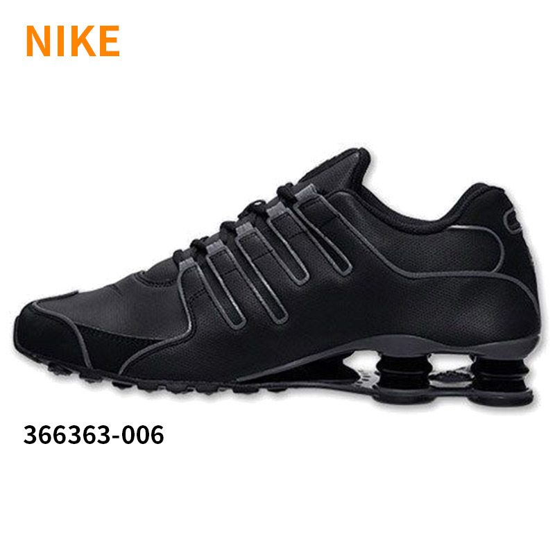 Nike men's nike shox nz sl column cushioning breathable sports running shoes engraved 366363-006