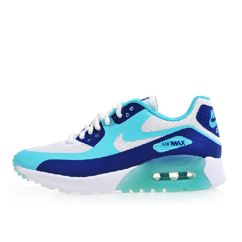 9fa75a3a132c Get Quotations · Nike nike air max 90 women s breathable air cushion  cushioning blue and white casual shoes 725061