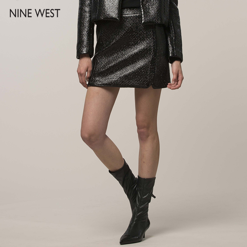 f345e455cb01 Get Quotations · Nine west/nine hee new autumn and winter slim models  imitation 5155B102 wrinkled patent leather