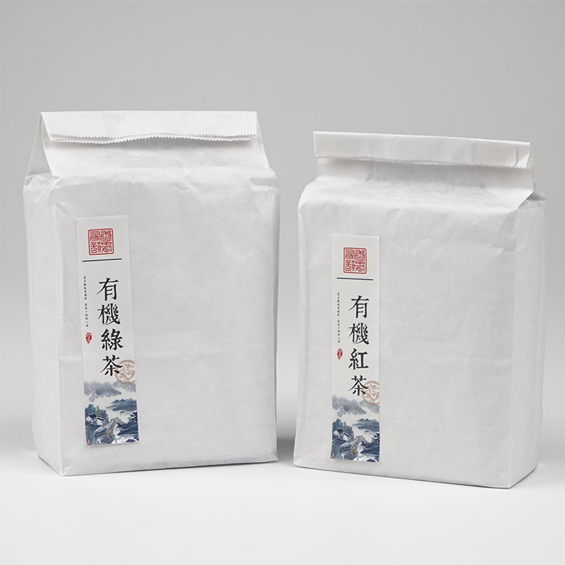 No word simple generic tea packaging bag inside the white leather white tea loose tea bags packing bags