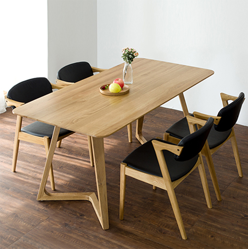 Nordic wood dining tables and chairs combination cafe tables wood dining table restaurant table chair home dining table