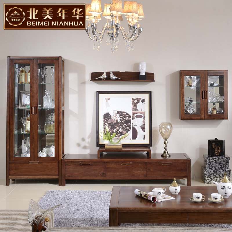 North american love 051 black walnut wood wine cabinet wood tv cabinet tv cabinet wood cabinet combination cabinet office furniture