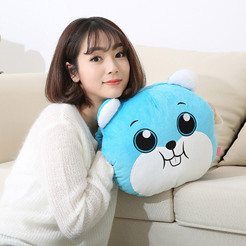 Nsure double intervene hand po rechargeable washable plush cute baby warm hot water bottle cartoon hot water bottle hot water bottle bag