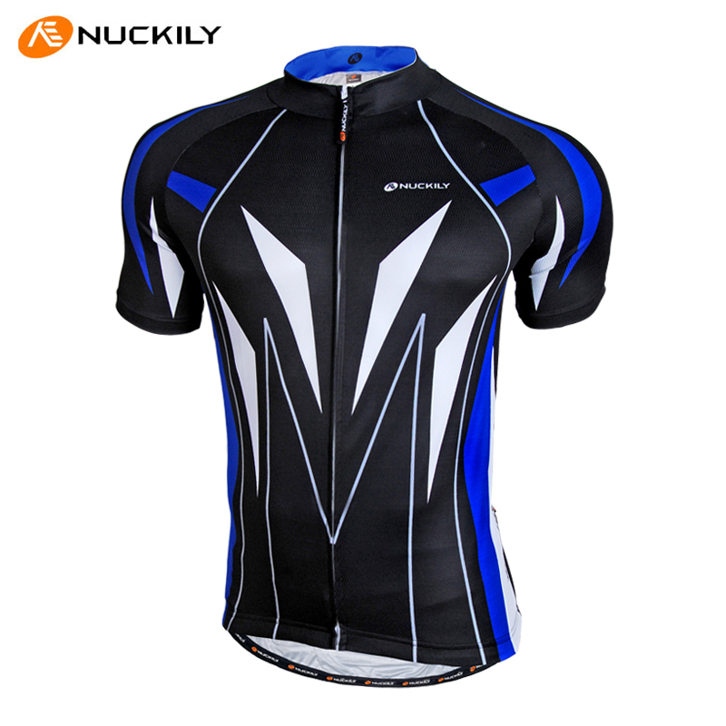 Nuckily mountain bike short sleeve jersey shirt male summer outdoor sports sunscreen breathable wicking perspiration