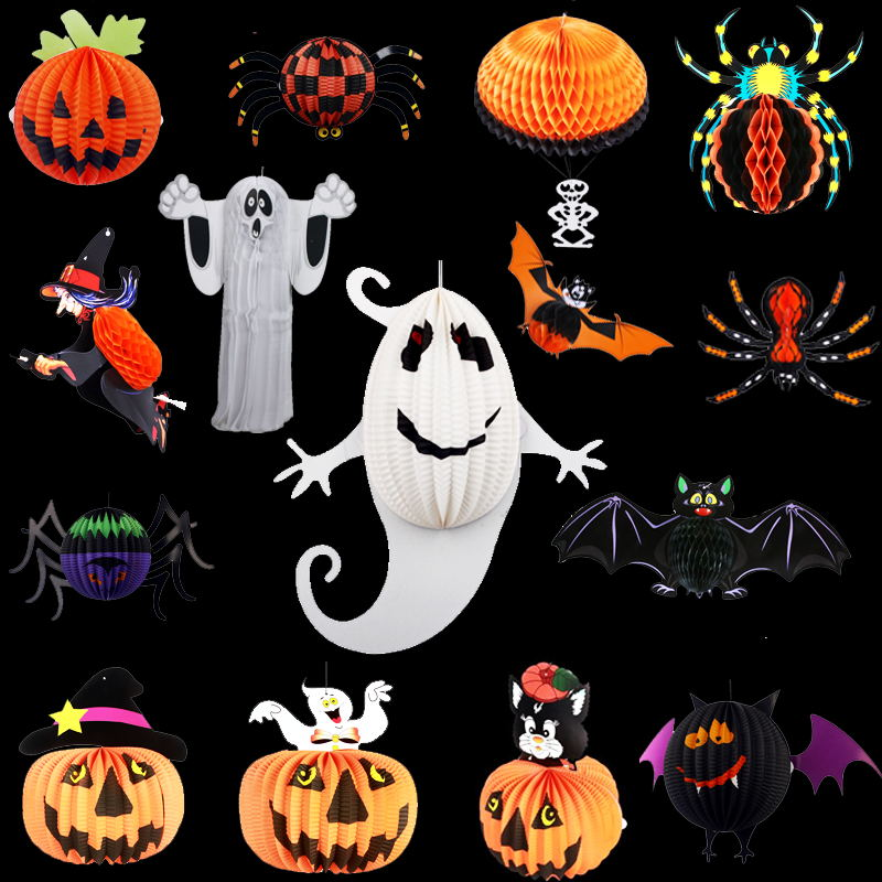 Nursery decor halloween bar supplies props funny ghost witch pumpkin lanterns charm strap