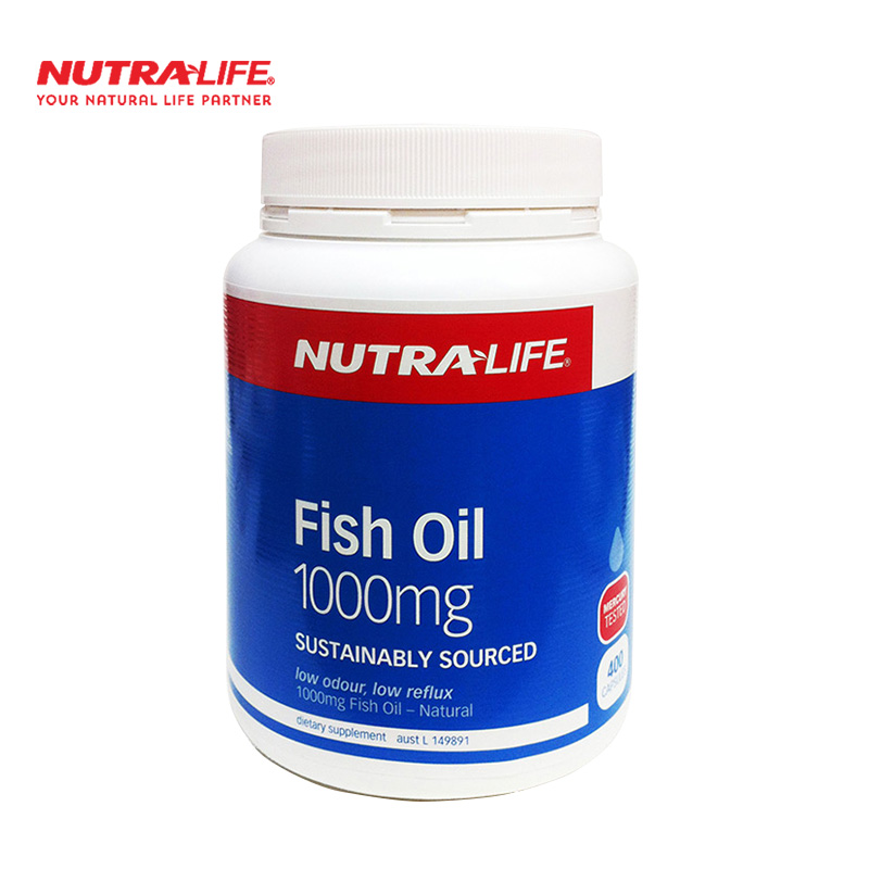 Nutra life fish oil fish oil soft capsule 400 tablets in the elderly dha australia new zealand
