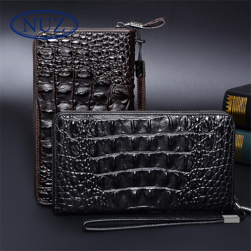 Nuz classic men's crocodile clutch bag large capacity multifunction wallet korean version of the trend clutch bag man 9213