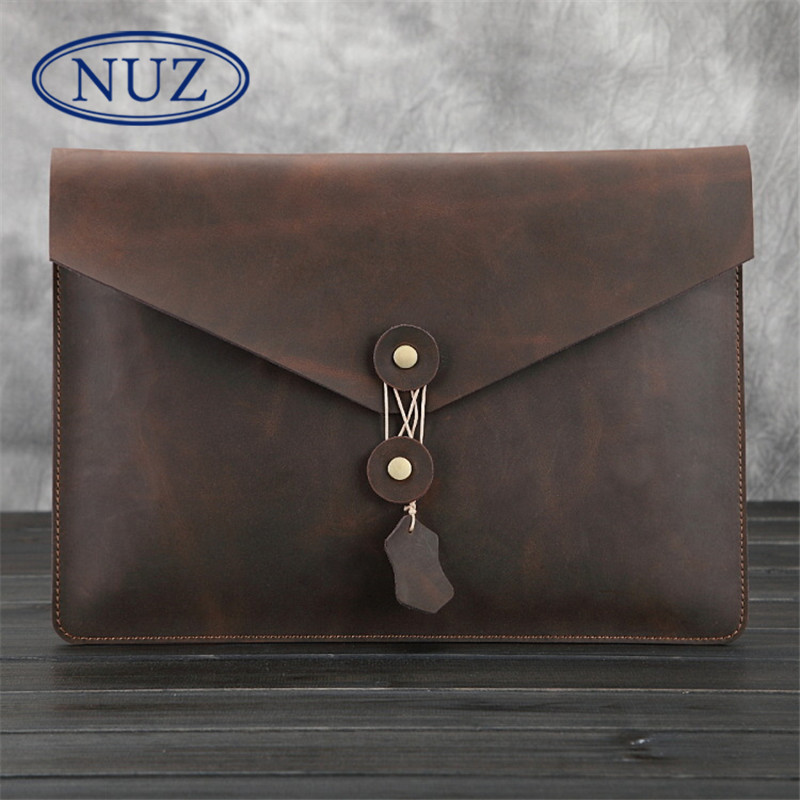 Nuz cover bag strapless solid color envelope bag business casual leather briefcase cross section clutch 8195