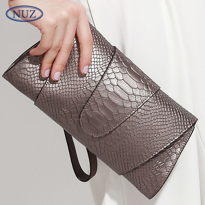 Nuz simple and stylish european style crocodile envelope bag 2016 new ladies leather casual men clutch bag 0394