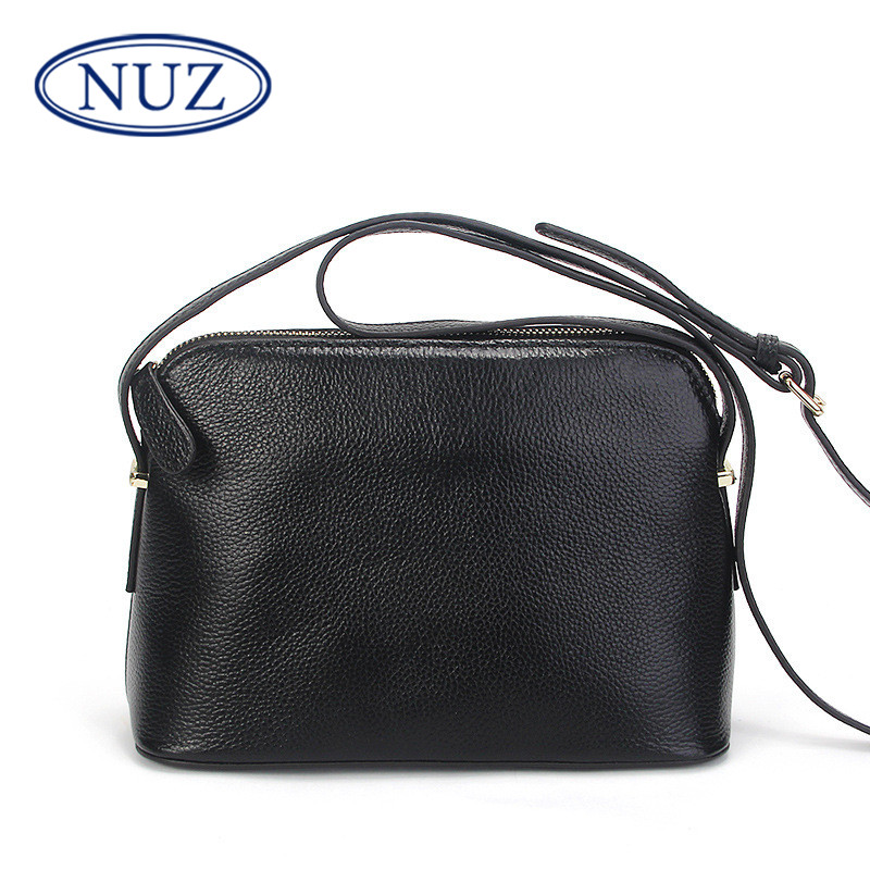 Nuz zipper pocket trumpet shell bag ladies summer new style shoulder bag embossed leather fashion in europe and america 0176