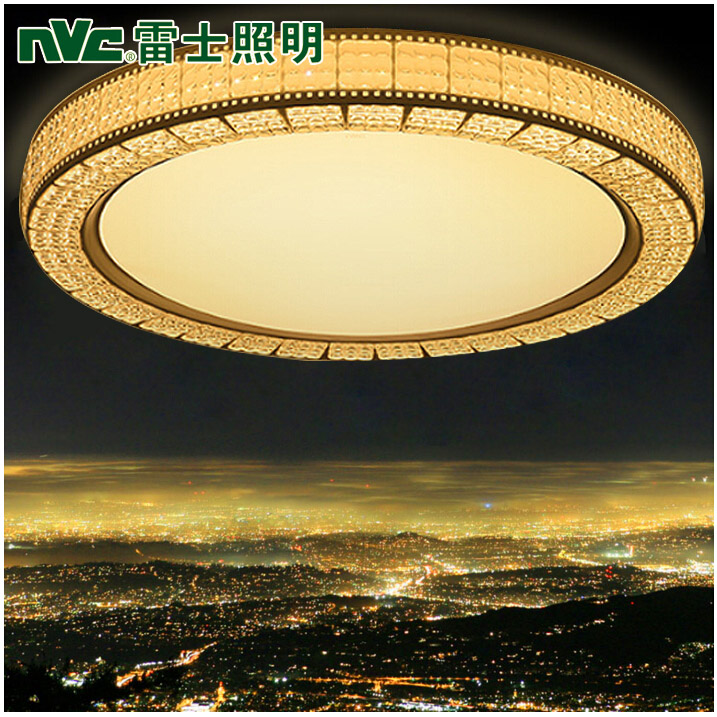 Nvc lighting led ceiling living room lamps round cozy bedroom modern minimalist atmosphere crystal