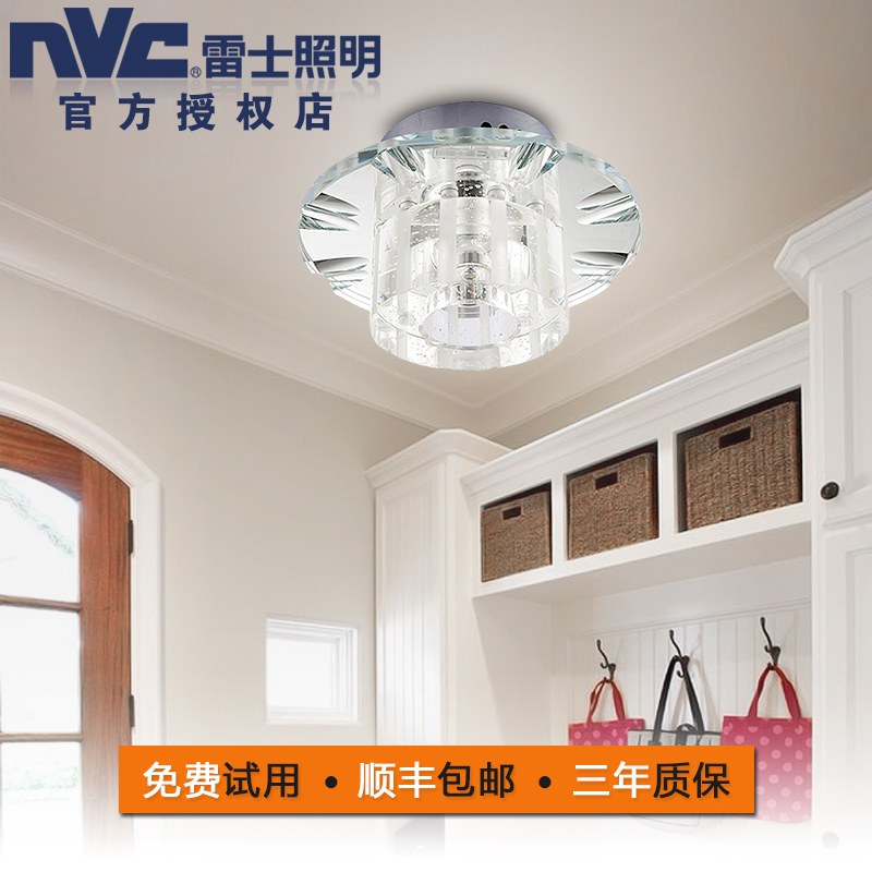 Nvc lighting led ceiling stylish modern end minimalist balcony aisle lights porch crystal ceiling