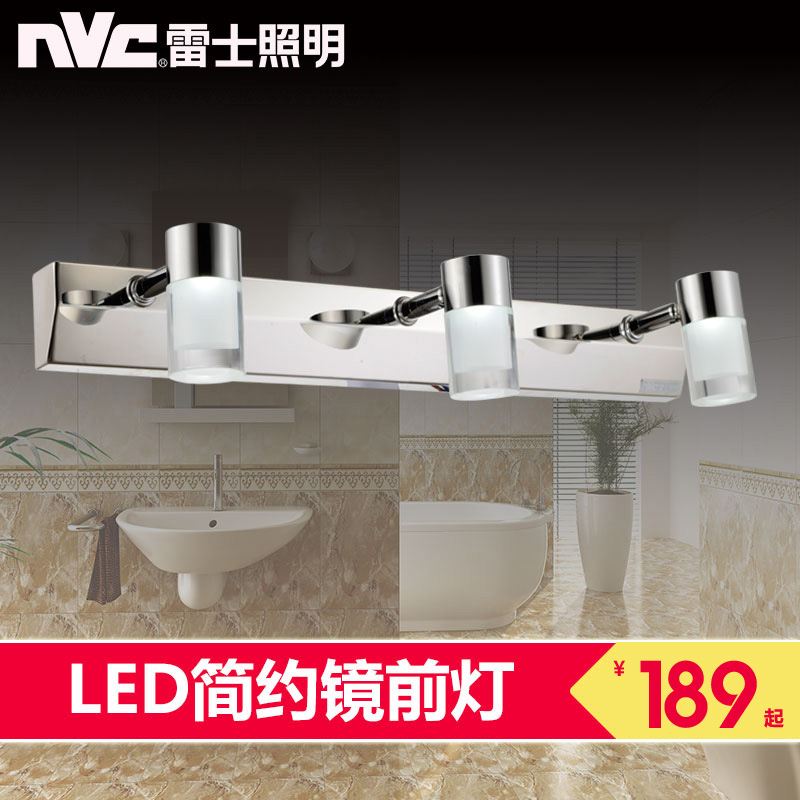 Nvc lighting led mirror front lamps european modern minimalist bathroom mirror cabinet bathroom wall lamp specialization makeup mirror lights