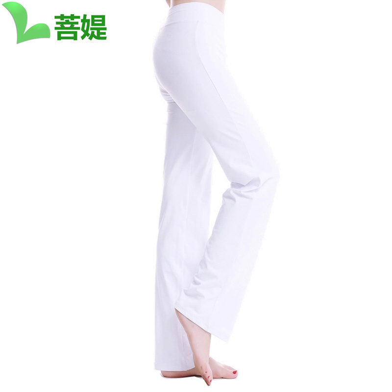 [Nylon custom] bodhisattva ti 2016 new white pants female yoga clothes yoga clothes yoga guru yoga clothes fitness trousers