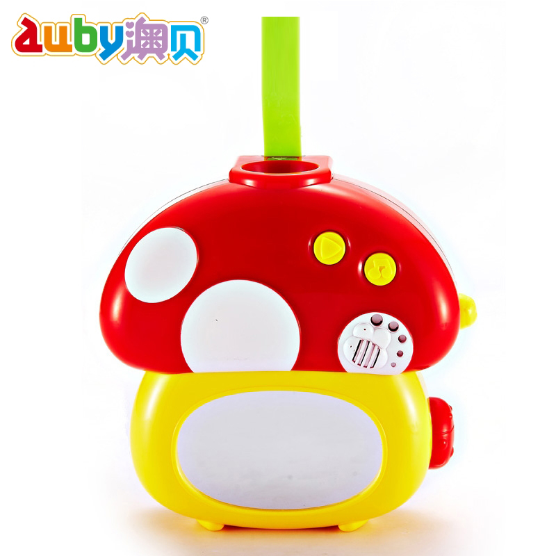 O pui auby infant bed bell series nightlight mushroom projection bed bell 463218 projection pattern models