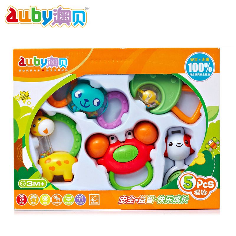O pui teether rattle 5 loaded 463133 obey baby toys newborn baby gift 0-1-year-old