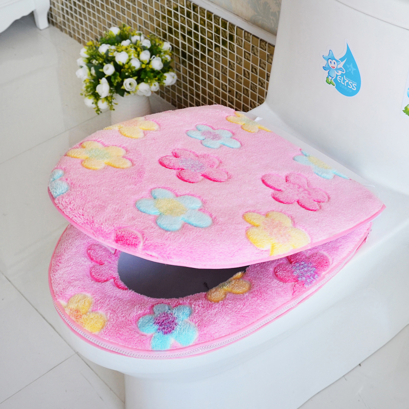 O universal potty toilet seat cover waterproof toilet seat cushion pad thick warm toilet toilet seat cover zipper section piece