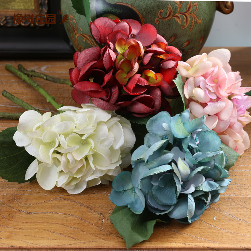 Oak manor bamboo rain hydrangea artificial flowers artificial flowers artificial flowers floral home decor living room fashion bride holding fireworks