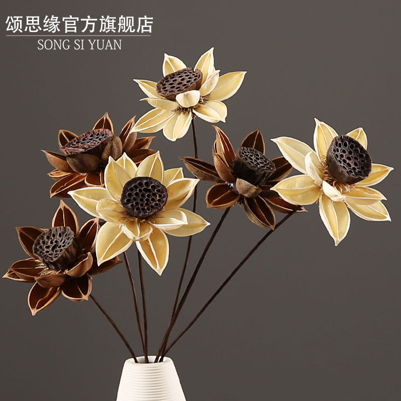 China lotus flower dried china lotus flower dried shopping guide at get quotations ode to the best limbus artificial flowers dried flowers dried lotus stem lotus flower vase floral mightylinksfo