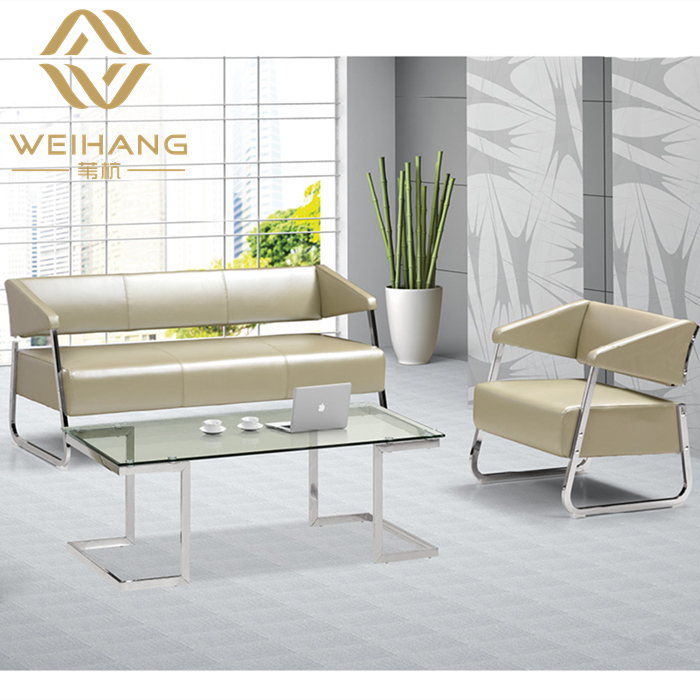 Office furniture minimalist modern parlor sofa office sofa leather sofa table combination for business reception office sofa