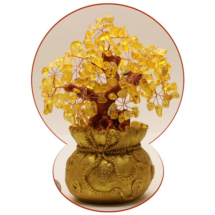 Office of the living room small ornaments natural crystal lucky tree moneymaker crafts home furnishings creative decorations