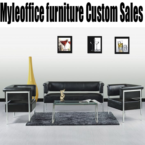 Office sofa leather office sofa table combination of modern minimalist office furniture parlor sofa three bits