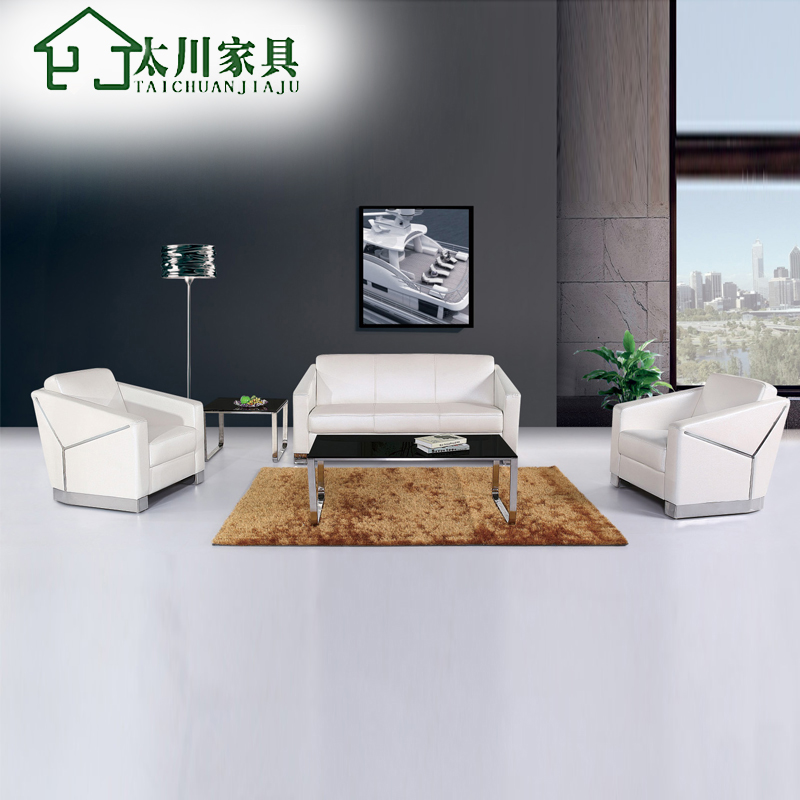Office sofa office sofa table combination of simple casual western leather living room sofa leather sofa leather sofa business