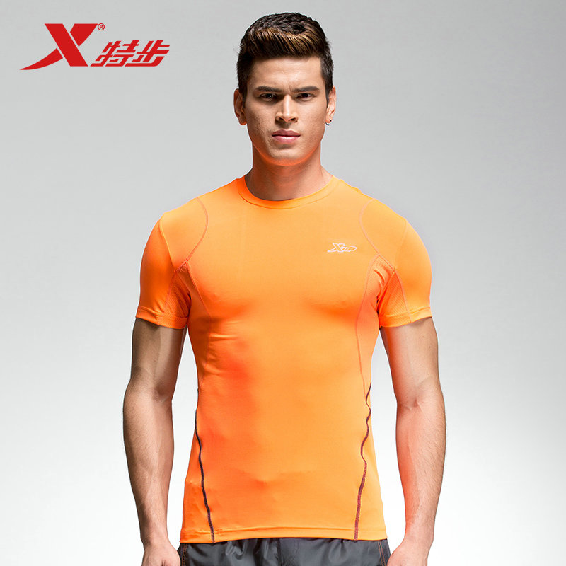[Official] xtep official authentic 2016 summer new men's lightweight and comfortable t-shirt round neck short sleeve sport