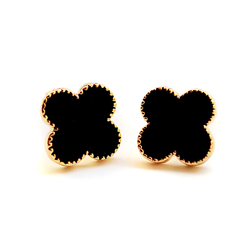 Ol simple wild flowers padded ear clip earrings non pierced padded ear clip earrings fake earrings female korean 0253