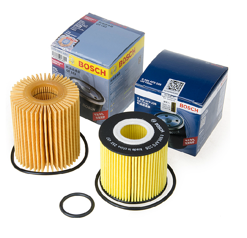Old and new toyota highlander crown reiz new camry rav4 bosch oil filter machine filter oil filter core grid
