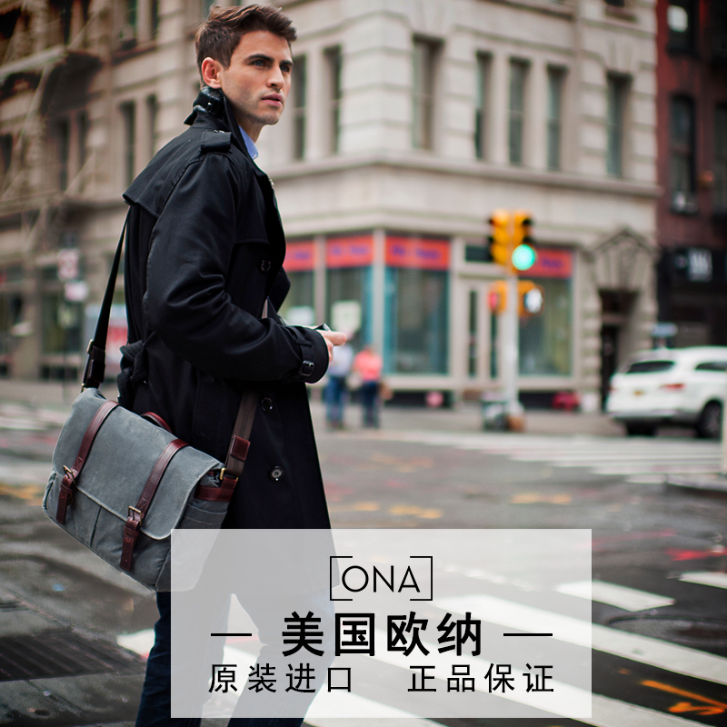 Ona the brixton shoulder diagonal slr camera bag camera bag retro canvas bag fashion models