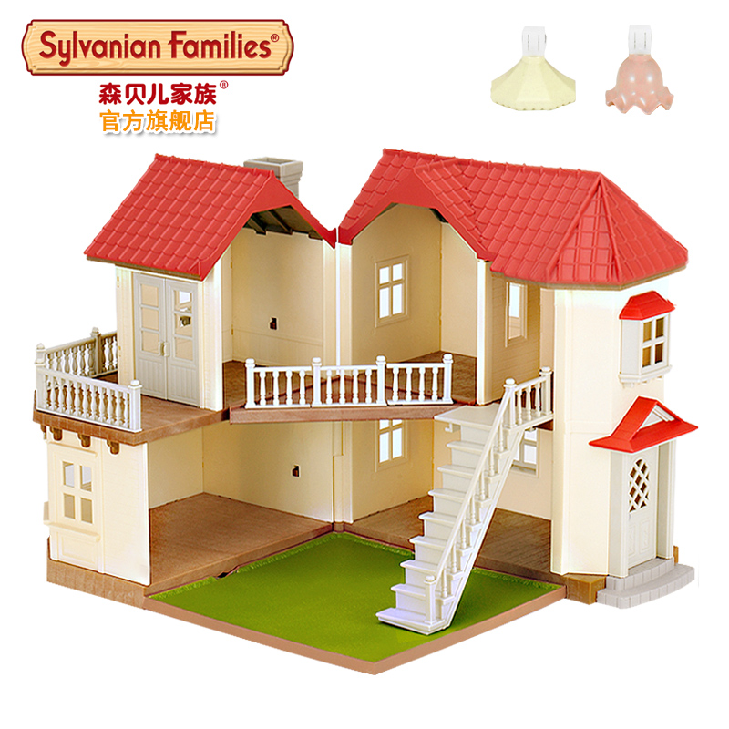 One of the epoch semipkg children sylvanian family treasure 27528 lights big house villa house girls play house toys suit